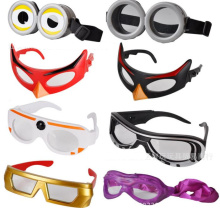 Superhero anime costumes gift birthday party cosplay glasses/ Captain America/Batman/Jurassic/ninja/Iron Man cartoon movie