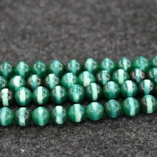 10mm 38pcs/lot, TOP Quality ! Green Lines Handmade Loose Spacer Round Natural Stone Beads Bracelet DIY Jewelry Making(China)