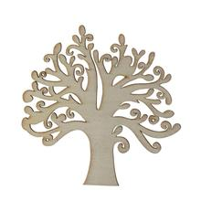 10pcs Blank Wooden Tree Chips Emebellishments Cardmaking DIY Crafts Scrapbooking Home Christmas Decorations(China)