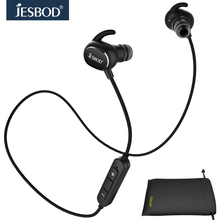 Jesbod QY19 Sports Headphones Waterproof Earphone Wireless Bluetooth Headsets MP3 fone de ouvido and Storage Pouch English Voice