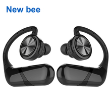 Buy New Bee True Wireless Bluetooth Earphone TWS Stereo Waterproof Sport Headset Cordless Earbuds Microphone Phone Computer for $25.49 in AliExpress store