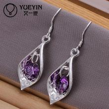 Accessories New Design silver plated jewelry Female's earrings Ornaments Brazilian Pendant Dangle earring(China)