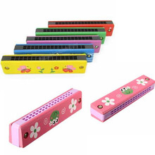 Plastic Music Educational Toy Instrument Fantastic Wooden And Harmonica For Children Kid XMAS Birthday Gift