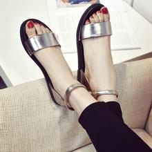 women shoes Gladiator sandals 2016 summer style flat heel soft leather casual ladies sandalias fashion brand beach sandals