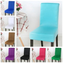 Tiffany Colour Spandex lycra chair cover fit for square back home chairs wedding party home dinner decoration Half cover(China)