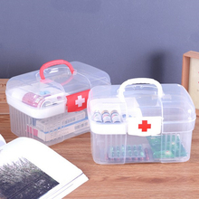 2017 Large capacity Emergency box portable first aid kit Travel Medical Kit Family medical box Storage bag empty bag(China)