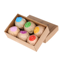6pcs Organic Bath Bombs Aromatherapy Type Salt Body Cuticle Cleaner Handmade Ball Bombs SPA Stress Relief Skin Care Bathing Tool(China)