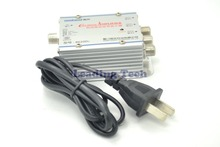 Household Indoor 1 In 3 20dBTV Signal Amplifier CATV with US-Plug