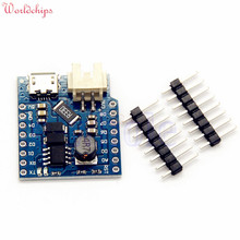 Wemos D1 Mini Battery Shield USB Single Lithium Battery Charging Boost Module With Pins LED Indicator 5V DC Free Shipping