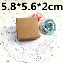 50pcs 5.8*5.6*2cm Joy soap paper gift pacakging box , brown kraft paper gift box ,wedding candy craft paper box(China)