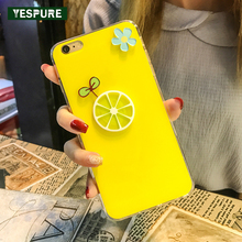 YESPURE Yellow Cute Cheap Mobile Phone Cases for Apple Iphone 6plus Tpu Soft Cellphone Accessories for Iphone 6s Plus 5.5inch