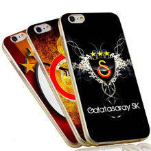 Fashion Silicone TPU Cover For iPhone 7 6 6S Plus 5 SE 5S Galatasaray S.K. SK Football Case