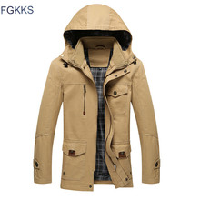 FGKKS 2017 New Winter Warm Jacket Men Casual Brand Waterproof Clothing Top Quality Thick Fit Cotton Men's Jackets Coat Parka