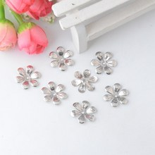 Buy Free Retail 50Pcs silver tone Filigree Flower Wraps Connectors Embellishments Gift Decoration DIY Findings18x16mm F0783 for $1.47 in AliExpress store