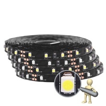 SMD 3528 Black PCB Fita LED Strip 5M 300LED Not Waterproof DC 12V LED Light Strips Flexible Neon Tape Luz Home Lighting(China)