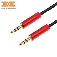 Jack 3.5mm premium audio cable male to male with gold plug extension cables AUX cable for car,headphone,ipads, MP3 players(China)