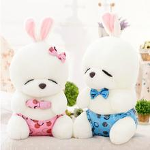 1pcs 40cm Super cute plush toy stuffed toy doll lover rabbit MashiMaro blue/pink good for gift(China)