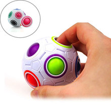 Free Shipping H-Q Fun Spherical Magic Cube Rainbow Ball Football Puzzles Kids Educational Learning Toys for Children Adult Gifts