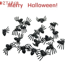 DZT6 Joking slime Toys Halloween gadget funny Realistic Plastic Black Spider for decoration Best Seller drop ship S45