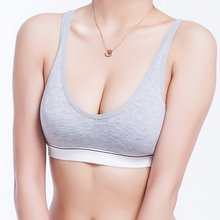 Buy Women Push Bra Adjusted Wire Free Sexy Straps Comfortable Wireless Bamboo Cotton Tank Underwear Bust Crop Tops