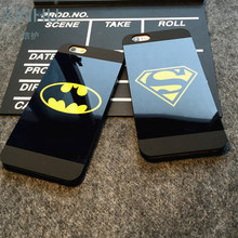 XINHU for Apple iPhone 6s case Batman Captain America Mirror Phone shell for iPhone 6plus 6 6plus slim phone shell for iPhone