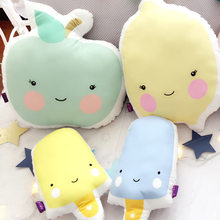 Cute Apple Lemon Back Cushion Plush Toys Nordic Home Sofa Decoration Pillow Cushions Kids Room Decorative Sleep Pillows Gift