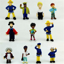 Hot sale,10 pcs/set Fireman Sam doll toys,Japanese anime Fireman Sam action & toy figures toys for toys,xs113(China)