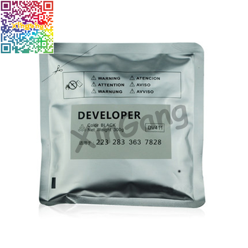 2Pcs High Quality Japan DV411 Developer for Konica Minolta Bizhub BH 223 283 363 423 7828 Iron Powder Copier Developer<br>