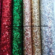 CHUNKY GLITTER Leather, Synthetic Leather, glitter PU Leather for DIY Accessories shoes handbags wallpaper Decoraction P1450(China)