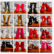 O for U 30Pairs/lot Toy Original High Quality Mixed-Style Beautiful Boots Sandles Monster Doll Shoes For Monster Dolls Outfits