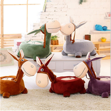 Fancytrader 50cm Big Plush Donkey Tatami Chair Soft Stuffed  Giant Animal Donkey Kids Sofa Baby Present