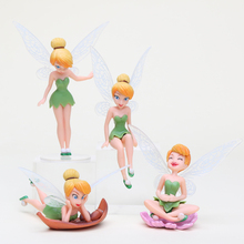 4Pcs/Set anime Tinkerbell Fairy PVC Action Figures Tinker Bell Fairies Model Dolls Toy kids gift(China)