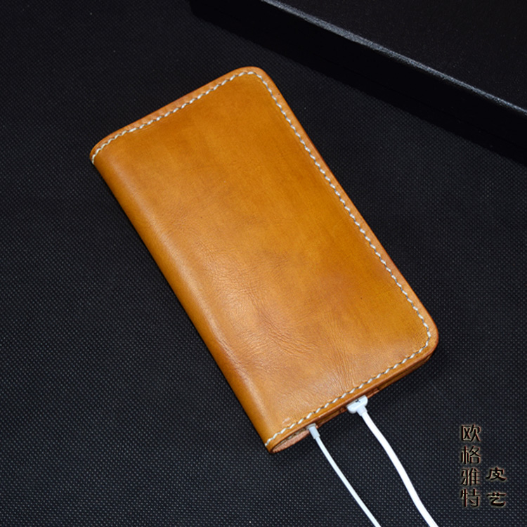 OLG.YAT handmade wallet Mobile phone package card package personality young wallets Thin simple hangbag Vegetable tanned leather<br>