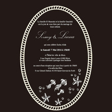 Customized Ocean elements 5*7inch oval shape clear acrylic wedding invitation card laser engraving letters(1lot=100pcs)
