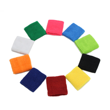 1PCS Sport Wristband Unisex Cotton Sweat Band Sweatband Arm Band Wristband Tennis Basketball Gym Yoga Wrist Wraps