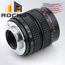 1/2' Television TV Lens Lenses Suit for C Mount Camera 35mm focal length F1.7 in Black H0178 for Olympus OM-D E-M1 E-M5 E-M(China)