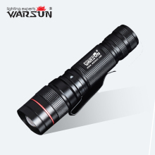 WARSUN 268 Lumen Mini Handy LED Torch Flash Light zaklamp Rechargeable Zoomable Lamp Lantern Linternas Flashlight ZOOM8(China)