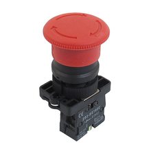 Promotion! 22mm NC N/C Red Mushroom Emergency Stop Push Button Switch 600V 10A(China)