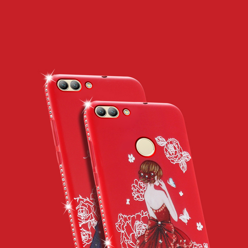 Dress girl silicone case huawei p smart (10)