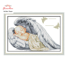 Buy Golden Panno,Little angel,sleeping baby,pattern print canvas DMC 14CT 11CT DMS Cross Stitch Embroidery Needlework kits Sets 923 for $4.92 in AliExpress store