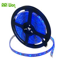 RiRi won SMD RGB LED Strip Light 5m 5050 2835 led light led tape strip lamp ribbon waterproof 60led 30leds flexible DC 12V diode(China)