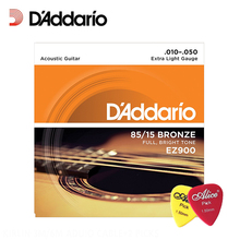 D'Addario EZ900 85/15 Bronze Great American Extra Light Acoustic Guitar Strings DAddario Guitar Strings(With 2pcs Picks)(China)