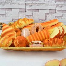 Free shipping Simulation Bread Model Dset Photography Decoration Supplies kitchen furnishing articles Plastic Crafts Food toys