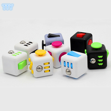 10 colors Magic Fidget Cube a vinyl desk toy Fidget Cube anti irritability toys magic cobe cool gift for relaxation with box