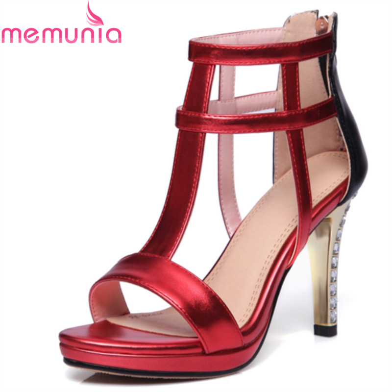 MEMUNIA 2017 hot sale new arrive women high heels sandals fashion super heels summer shoes sexy prom shoes<br>