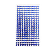 6mm kids toy Rhinestone Stickers Acrylic deep blue crystal Self Adhesive Diamond Frame decoration Laptop decoration Flat sticker