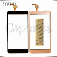 Syrinx + Tape Touchscreen For Leagoo M8 Touch Screen Screen Digitizer Front Glass For Leagoo M8 Mobile Phone Touch Panel Glass(China)