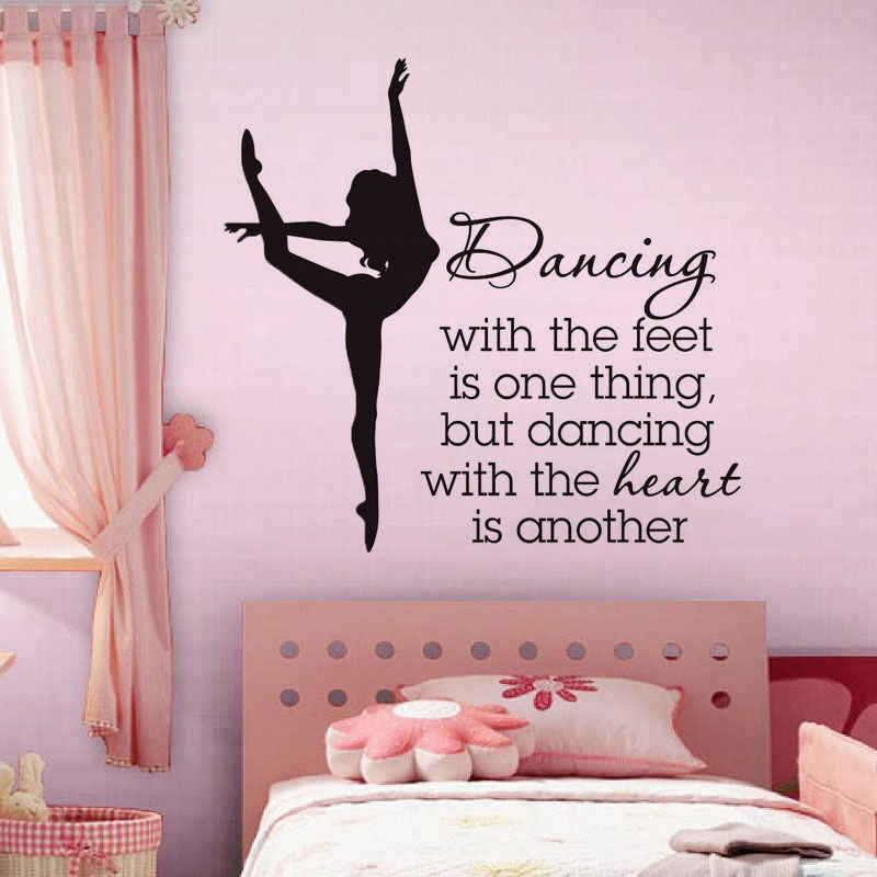 quotes decal for dancing school motivated words poster vinyl