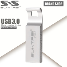 Suntrsi USB Flash Drive 64GB Metal USB 3.0 Pen Drive Customized Logo Pendrive USB Stick High Speed USB Flash 64GB Flash Drive(China)