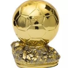 Ballon d'Or Football World Player of the Year Trophy Resin Golden Ball 19cm Factory Delivery(China)